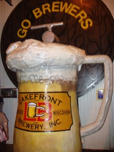 Brewers mug at Lakefront Brewery