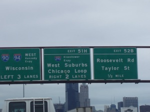 various road signs in Chicago