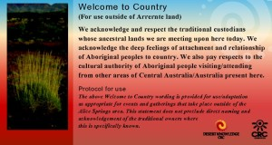 text for welcome to country in Australia