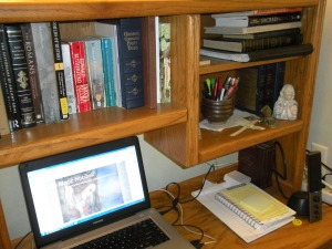 Jeannie's workspace