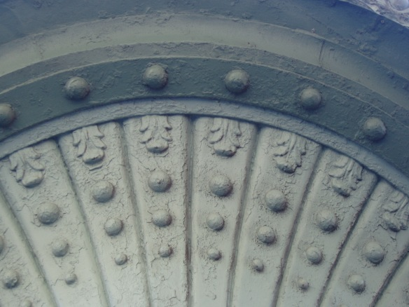 detail of a turret, North and Oakley, Chicago, IL