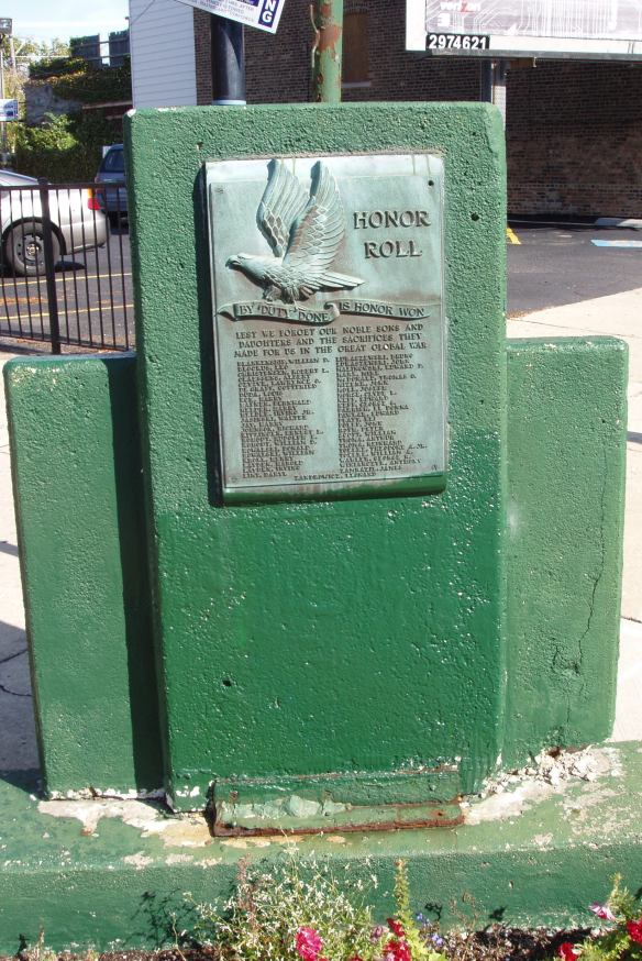 Veterans Day memorial, memorializing 47 men, including 8 sets of brothers