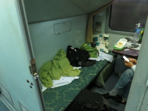 Overnight train from Hue to Hanoi, Vietnam; April 20, 2013