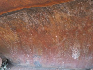 Cave paintings at Uluru