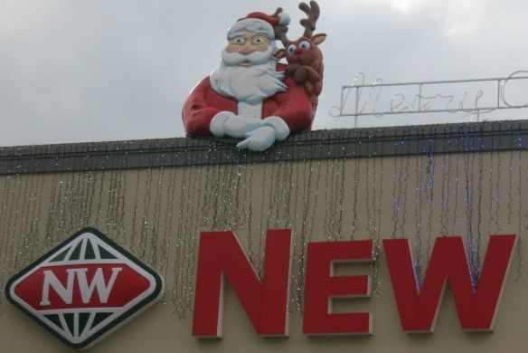 Inexplicably freaked-out Santa and Rudolph; Auckland, New Zealand; November 28, 2012