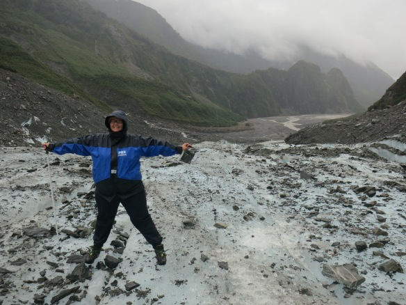 Joy on Fox Glacier, New Zealand