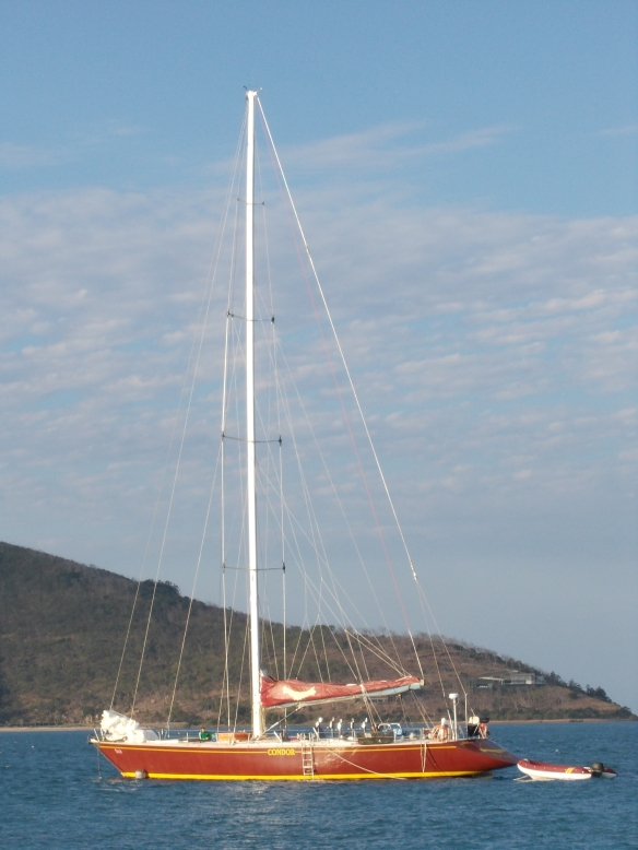 The Condor in the waters of the Whitsundays, off the east coast of Australia