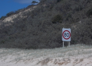 Speed limits on the beach