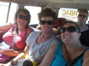 Suzanne, Jack, and me--the DJs of the trip