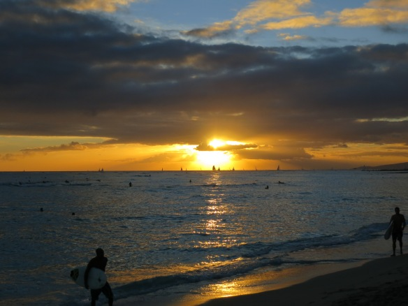 Sunset, Honolulu, Hawaii