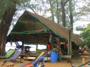 The massage hut