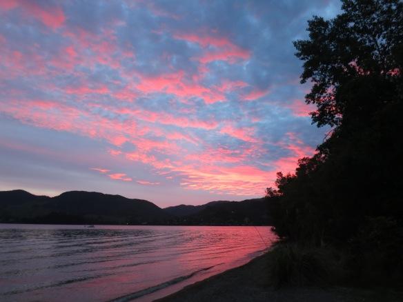 Sunset at Lake Orekara