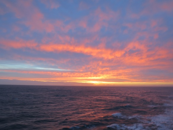 Sunset, Between the North and South Islands, New Zealand