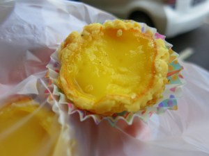 Egg tart, especially popular at the Chinese New Year