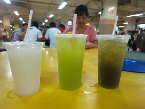 Delightful drinks: soursop, sugarcane, and water chestnut