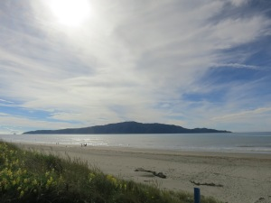 Kapiti Island off the coast