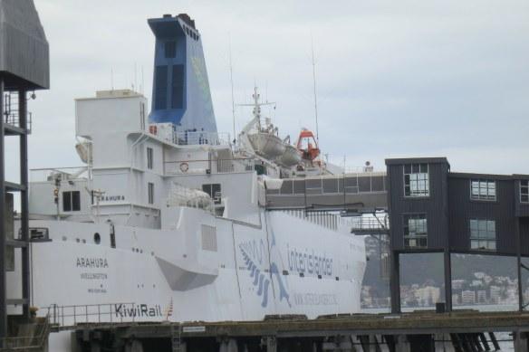 An imposing Interislander Ferry