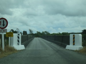 One-lane bridges: sometimes you can't even see the other end to make sure no one's coming your way