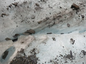 In the crevasses