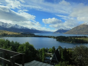 The view from the Queenstown living room I slept in