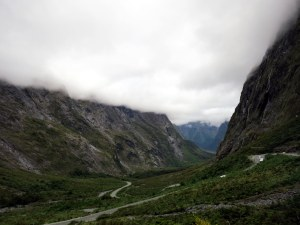 The road after Homer Tunnel