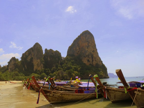 West Railay Beach, Krabi, Thailand; February 6, 2013