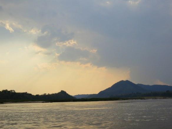 Sunset, Mekong River near Luang Prabang, Laos