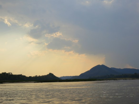 Sunset, Mekong River near Luang Prabang, Laos