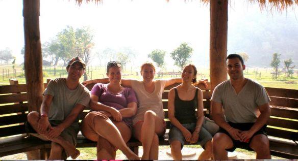 Luke, me, Charlotte, Jane, and Claudio