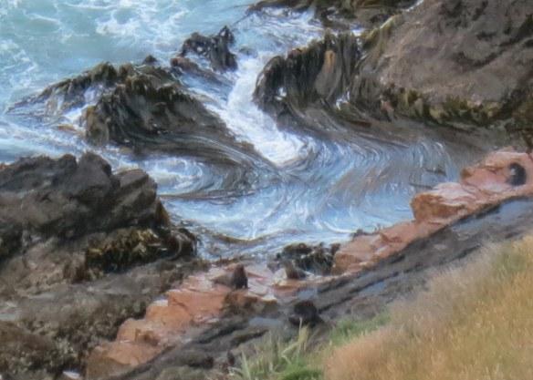 Fur seals frolicking after a long day at sea