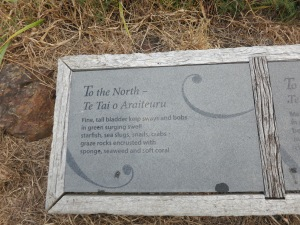 Plaques of ridiculous poetry lined the walk out there