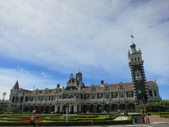 Dunedin train station, now the site of farmer's markets
