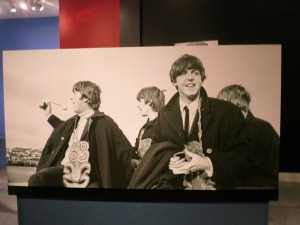 The Beatles look cheerful, but I know they must have been freezing under those capes.