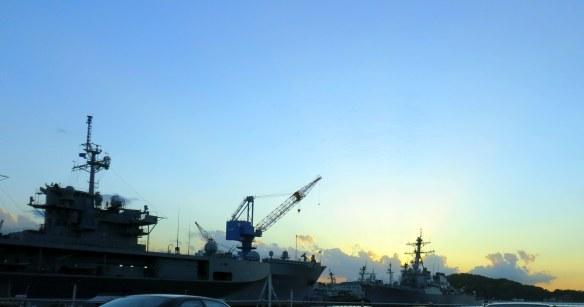 Sunset, Yokosuka Navy Base, Yokosuka, Japan