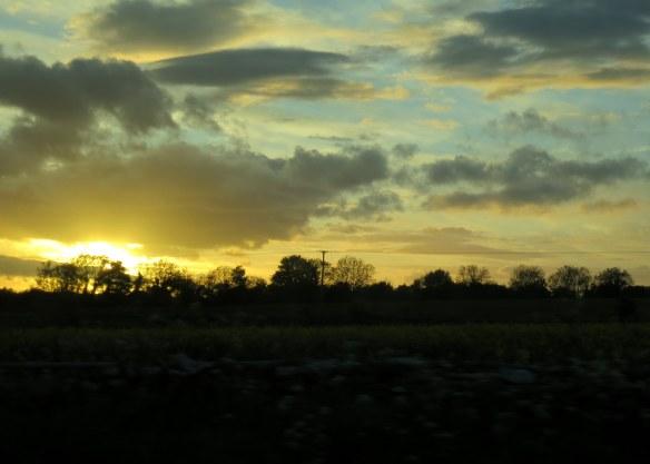Sunset, Somerset, England