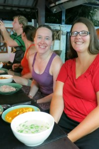 With the meals we cooked at Asia Scenic Cooking School