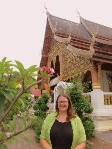 At one of the many temples in Chiang Mai