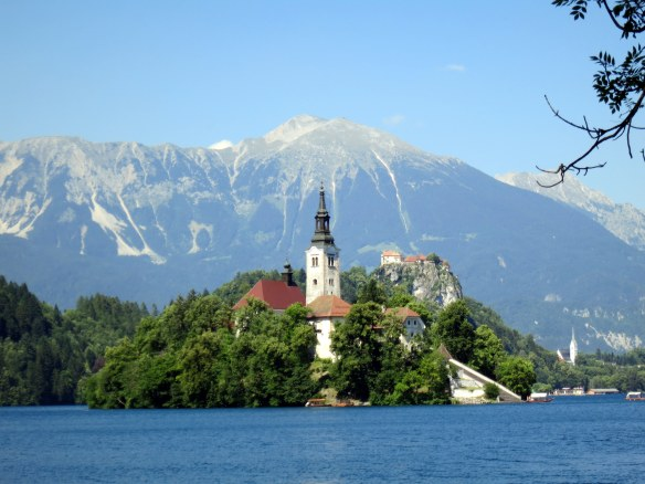 The monastery on the only island in Slovenia.
