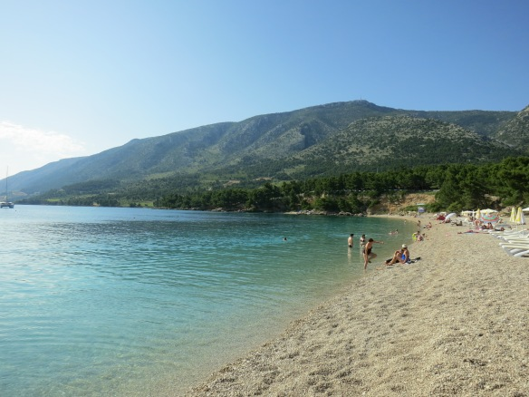 Bol Beach, Brac, Croatia -- nice way to pass an afternoon