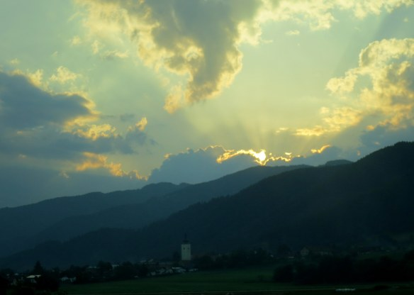 Sunset, Somewhere between Ljubljana and Vienna