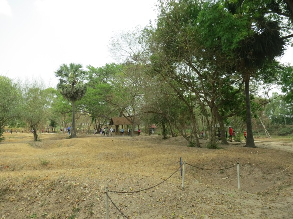 Walking on the bones at the Killing Fields, an eerie and humbling experience
