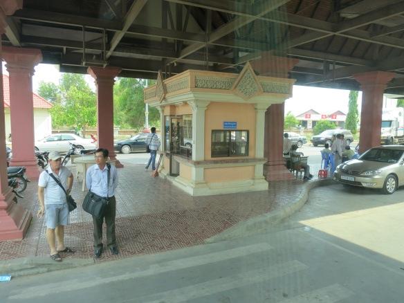 Guard station at Cambodia to Vietnam border crossing