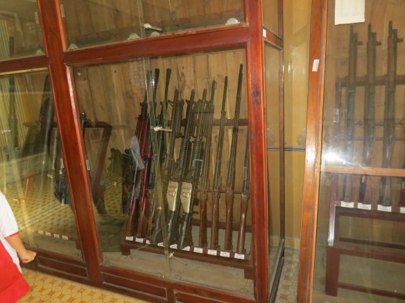 A lot of weapons on display at the end of the tour