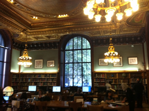 The Map Room of the New York Public Library