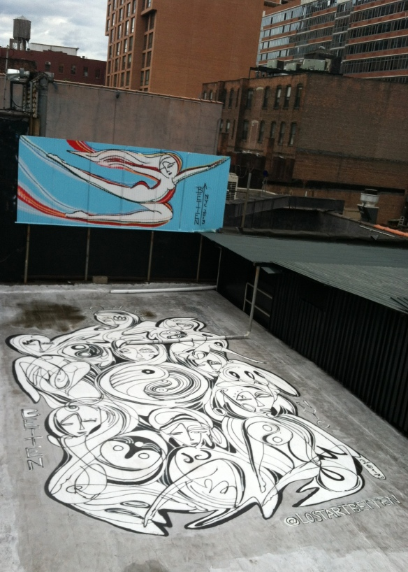 Art on a rooftop
