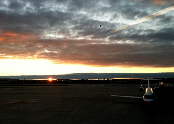 Sunset, LaGuardia Airport, New York