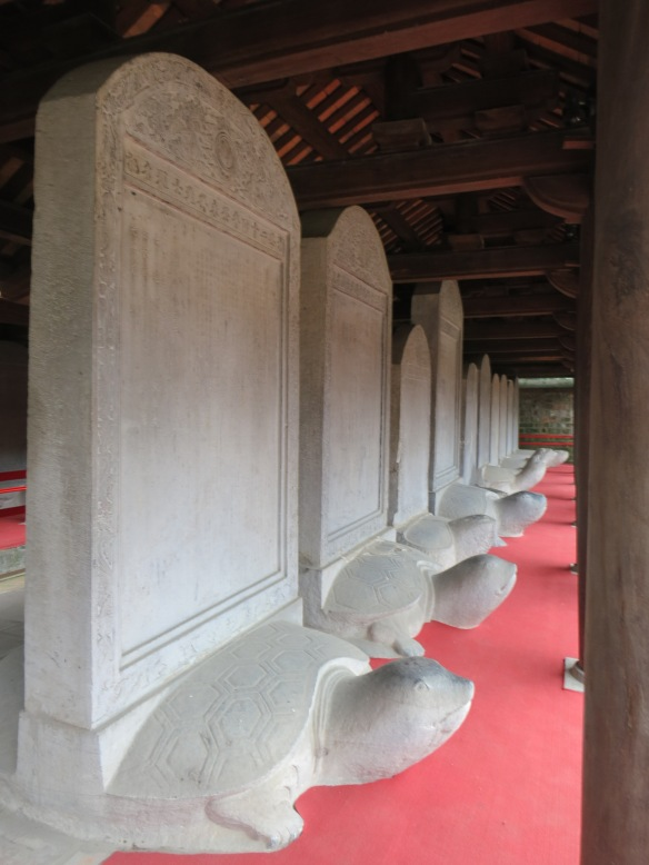 There are 82 stelae inscribed with the names of those who passed the highest level of testing.
