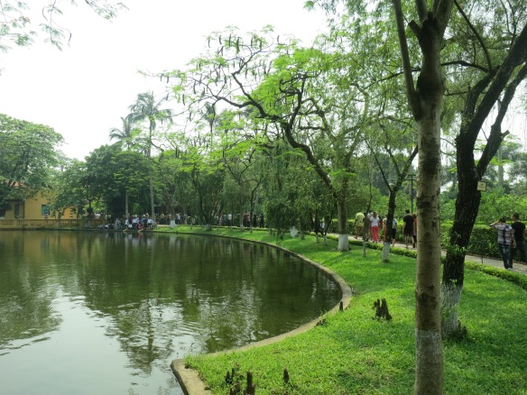Tranquil palace grounds