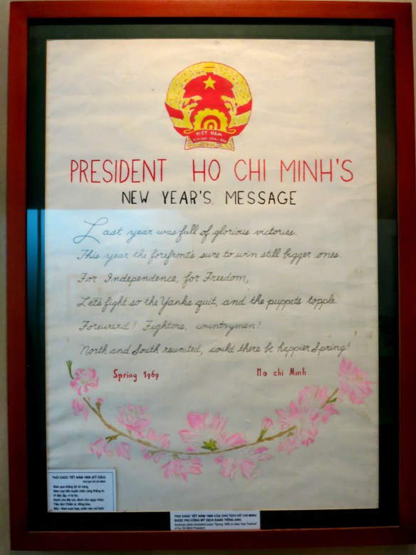 "A 1969 New Year's message from Ho Chi Minh, wishing to eject ""The Yanks"" and reunite North and South"