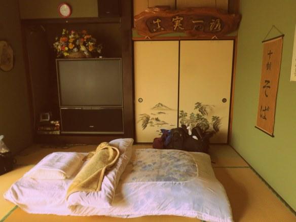 A comfortable floor futon
